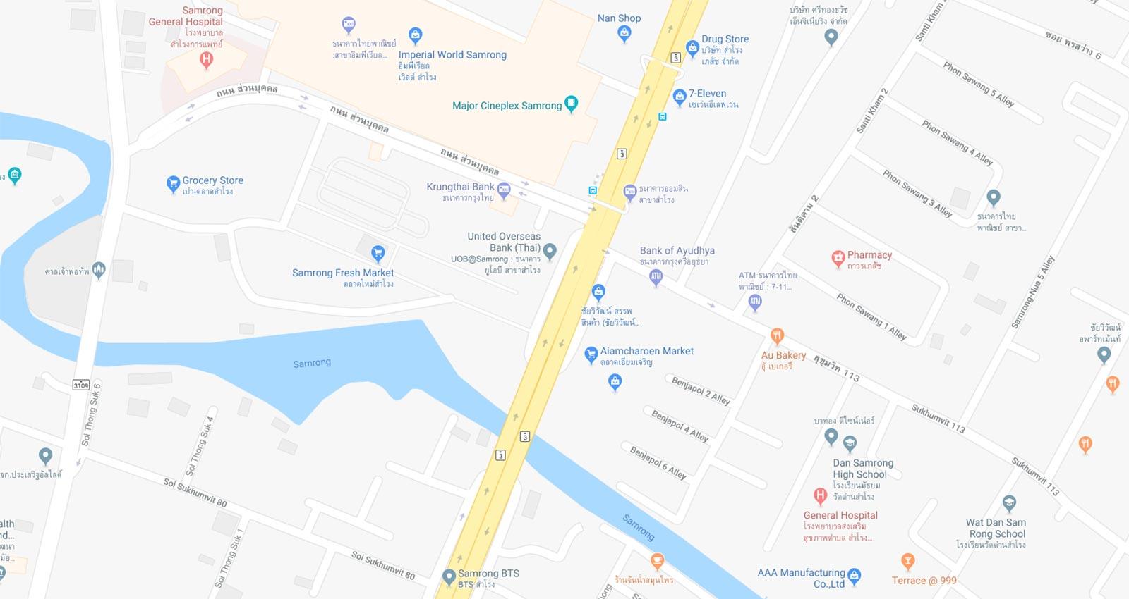 Samrong Map
