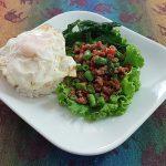 Thai basil pork egg