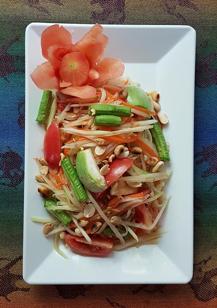 Green Papaya Salad - My Thai Cooking
