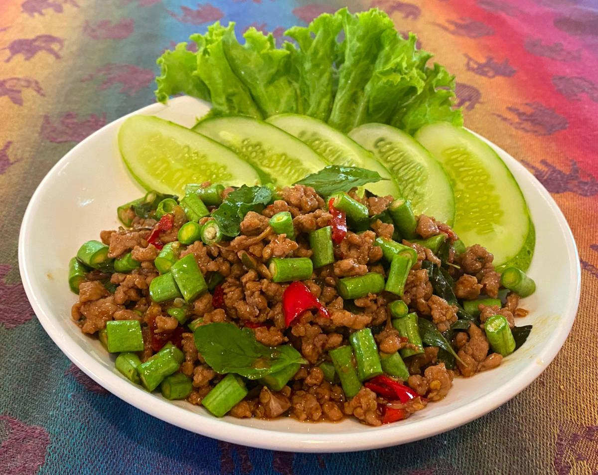 Thai pork basil