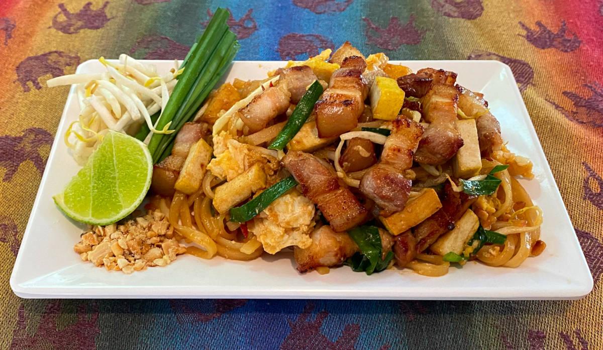 pork belly pad thai