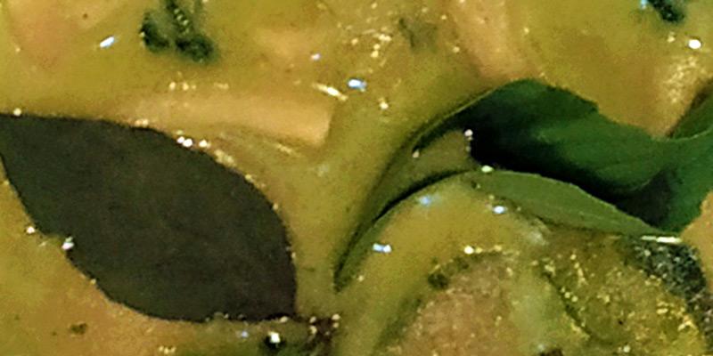 green mushroom curry