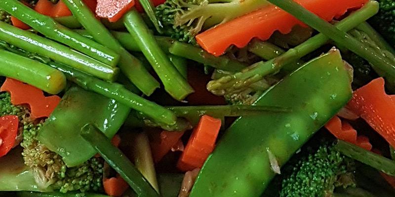 vegetables mushroom sauce