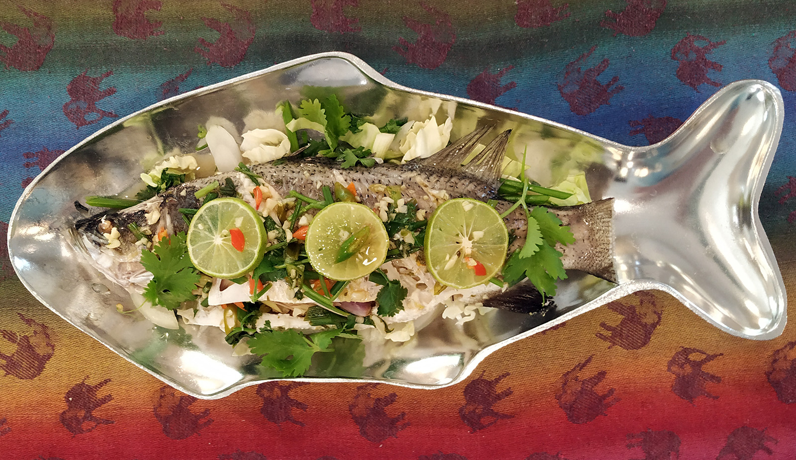 Steamed Lime Garlic Fish