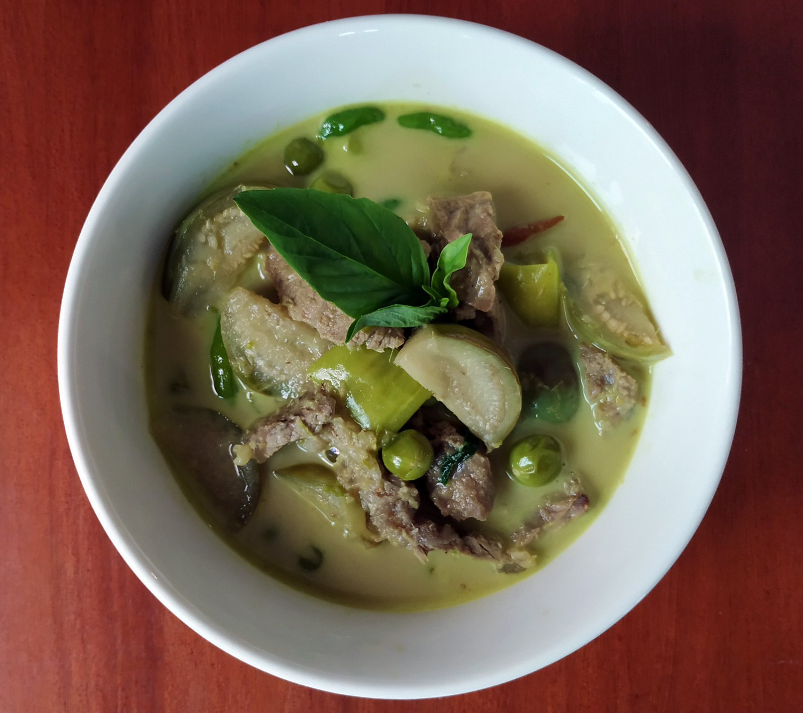 spicy green beef curry