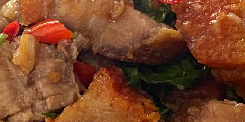 crispy pork belly basil