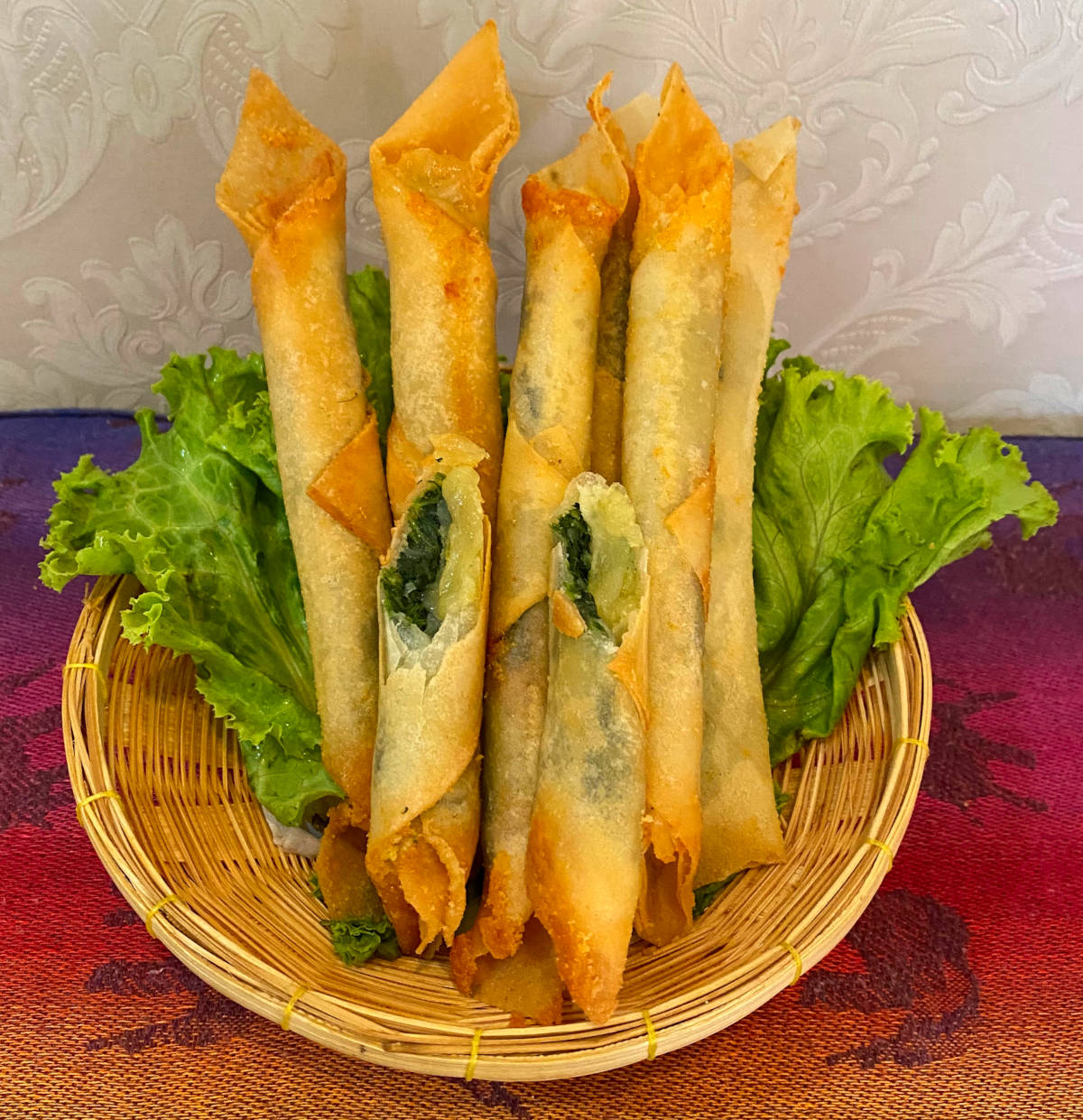 spinach spring roll