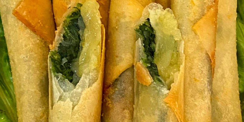 spring roll spinach