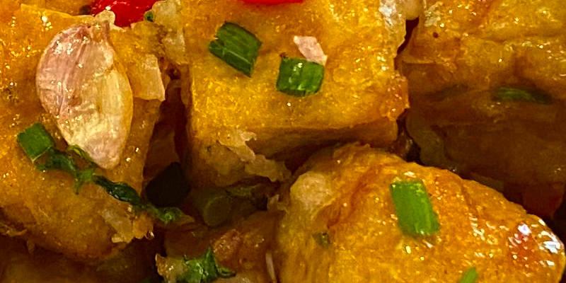 salt chilli tofu